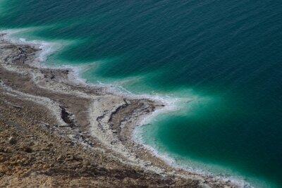 Salt patterns near Dead Sea