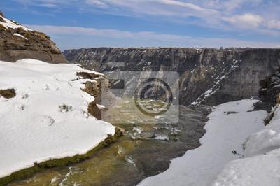Salto del Nervión en invierno, Norte de España