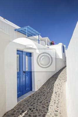 sama ulica w Fira na Santorini