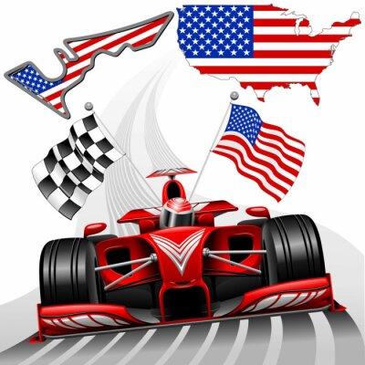 Obraz Samochodów wyścigowych Formuły 1 GP Austin USA