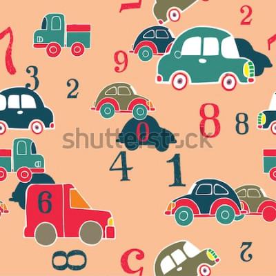 Obraz samochody i cyfry