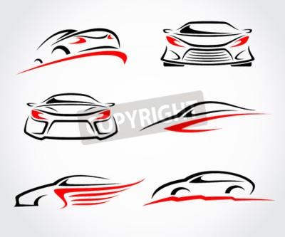 Obraz Samochody zestaw abstrakcyjny. Wektor