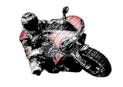 Obraz samodzielnie nakreślenie motocykla