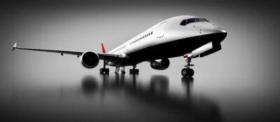 Obraz Samolot pasażerski w studio lub hangarze. Samoloty, linie lotnicze