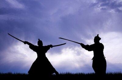 Obraz Samuraj sylwetka