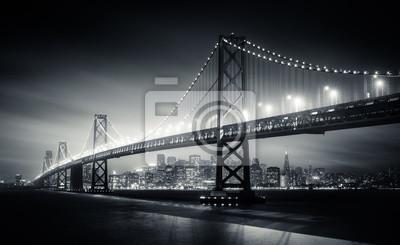 Obraz San Francisco Bay Bridge w nocy