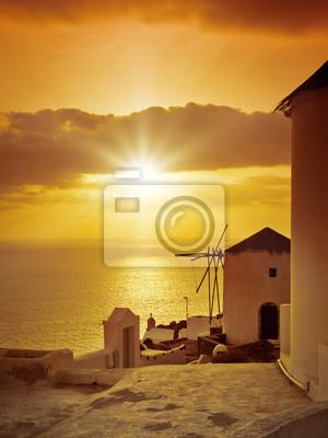 Santorini słońca