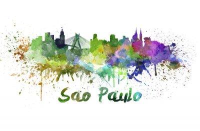 Obraz Sao Paulo skyline w akwareli