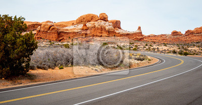 Obraz Scenic route through Arches National Park in Utah - travel photography