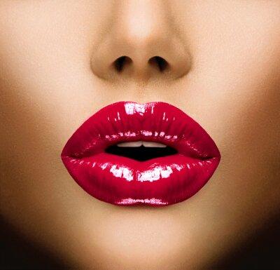 Obraz Seksowne usta. Pocałunek