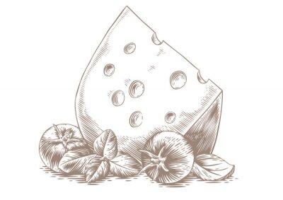 Obraz Sery z warzywami