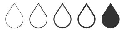 Obraz Set drop icon vector illustration isolated on white background