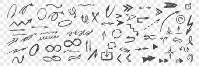 Obraz Set of hand drawn black arrows