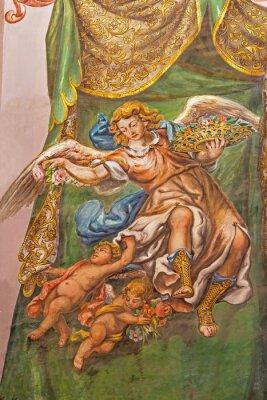 Obraz Seville - fresco of angel with the roses