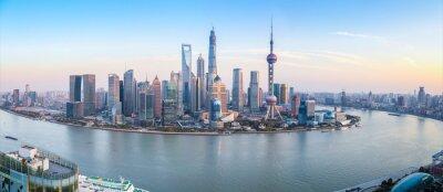 Obraz shanghai skyline panorama