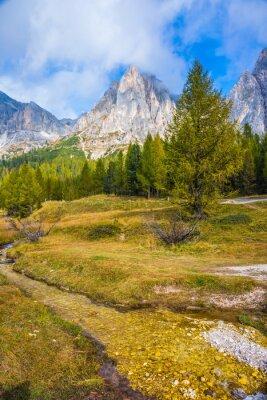 Sharp rocks surround the valleys
