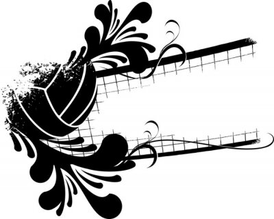 Obraz Siatkówka florish