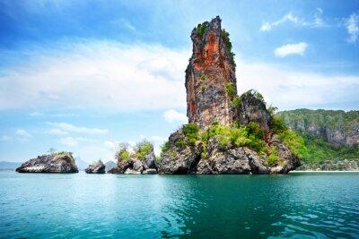Obraz skały na Railay plaży w Krabi Tajlandia