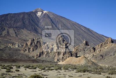 Skały w pobliżu wulkan Teide, Teneryfa, Wyspy Kanaryjskie.