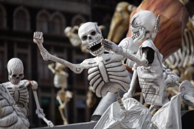 Obraz Skeletons of Traditional Day of the Dead, Mexico