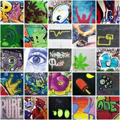 Obraz Skład graffiti art urbain