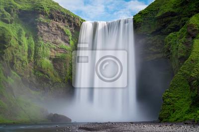 Obraz Skogafoss wodospad długa ekspozycja