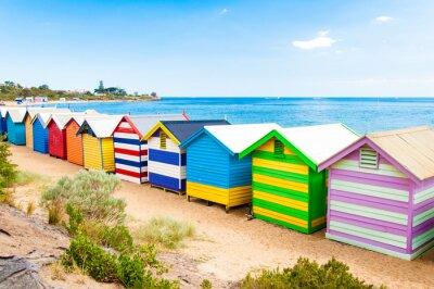 Obraz Skrzynki kąpielowe w Brighton Beach, Australia
