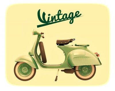 Obraz Skuter vintage