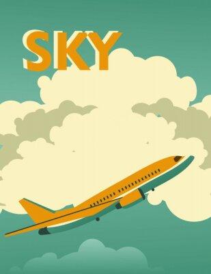 Obraz Sky vintage plakat