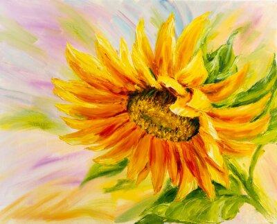 Obraz Słonecznikowy, olej na płótnie