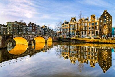 Obraz Słoneczny poranek w Amsterdamie, Holandia