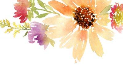 Obraz Ślub. Floral tle.