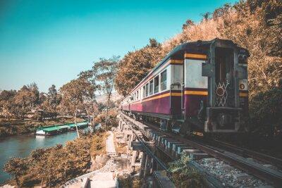 Obraz Śmiertelna kolej w Kanchanaburi, Tajlandia