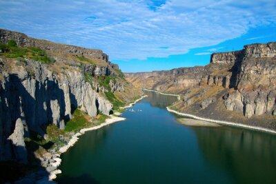 Obraz Snake River i jej kanion, jak wynika z Shoshone Falls niedaleko Twin Falls, Idaho
