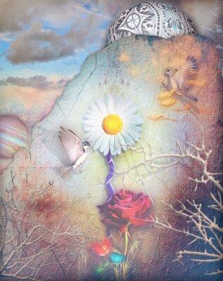 Obraz Sny doliny z kolorowymi kwiatami serii