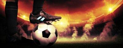 Obraz Soccer protest