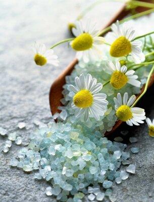 Obraz sól morska z ziołami