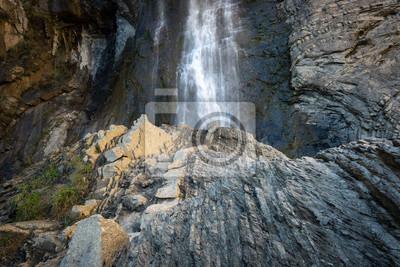 Sorrosal waterfall in Broto, Huesca, Spain