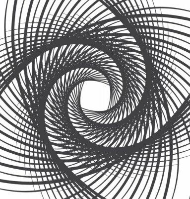 Obraz spiralna Wir abstrakcyjne tło czarne i białe