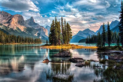 Obraz Spirit Island - Maligne Lake - Jasper National Park