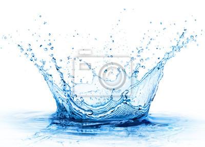 Obraz Splash - Świeży Kropla W Wodzie - Zamknij się