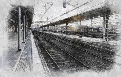 Obraz Stacja kolejowa