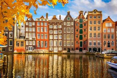 Obraz Stare budynki w Amsterdamie
