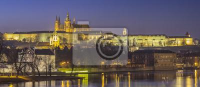 Stare miasto w Pradze w zmierzchów