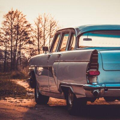 Obraz Stare retro lub vintage car powrotem. Vintage przetwarzanie efektów