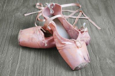 Obraz Stare różowe baletki