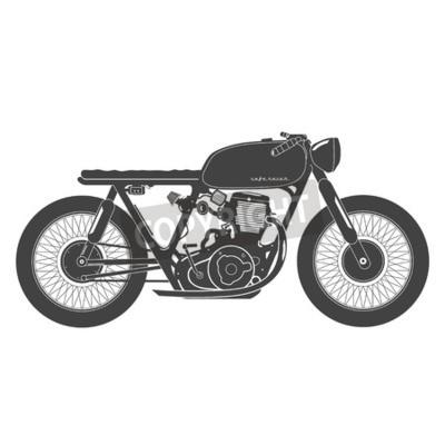 Obraz Stare zabytkowe motocykla. cafe racer tematem.