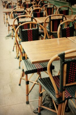 Obraz staromodny taras Cafe