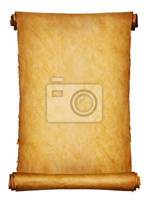 Starożytny rękopis izolowanych ponad białym tle