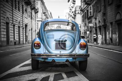 Obraz Stary niebieski samochód